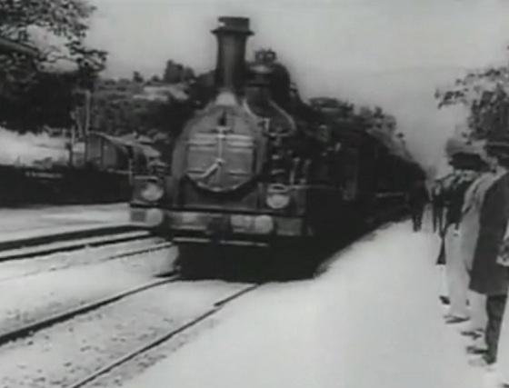 Llegada de un tren a Ciotat
