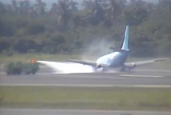 Video del Aterrizaje forzoso en Puerto Vallarta