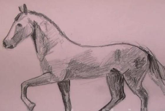 Como dibujar un caballo a Lápiz